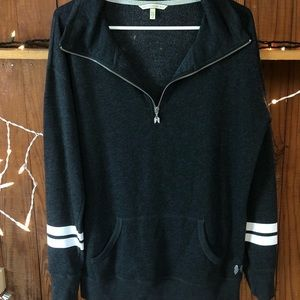 Victoria's Secret 3/4 zip-up hoodie dark grey